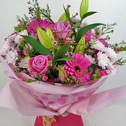 Passionately pink bouquet