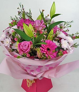 Passionately pink bouquet