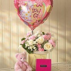 Baby Girl Bouquet Gift Set