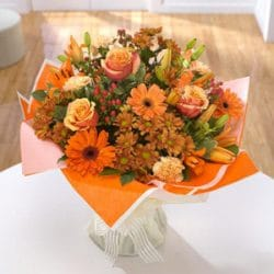 Bronzed beauty bouquet