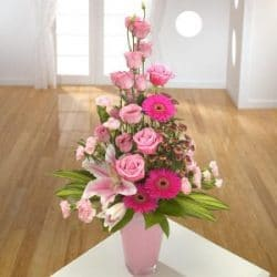 Pink Container arrangement