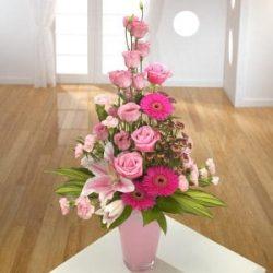 Pink Container arrangement