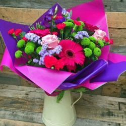 Vibrant flower jug
