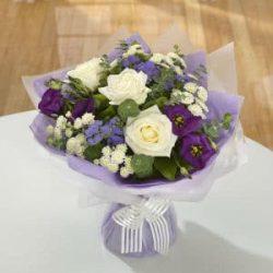 Blue, Purple & White Bouquet