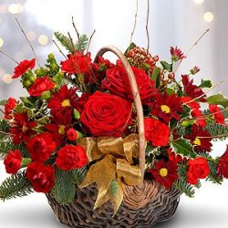 Festive Red Basket